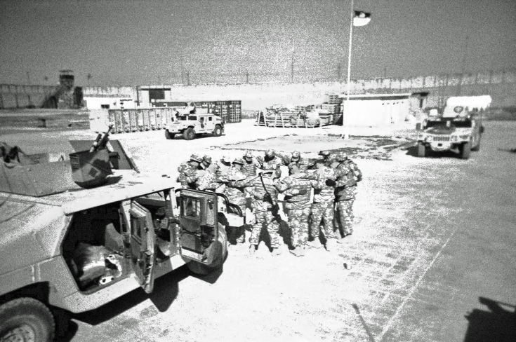 8/10 Cav Soldiers Pray Before A Mission